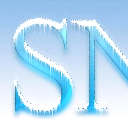 Snow capped text image 3